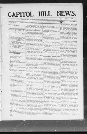 Primary view of object titled 'Capitol Hill News. (Capitol Hill, Okla.), Vol. 1, No. 23, Ed. 1 Friday, February 16, 1906'.