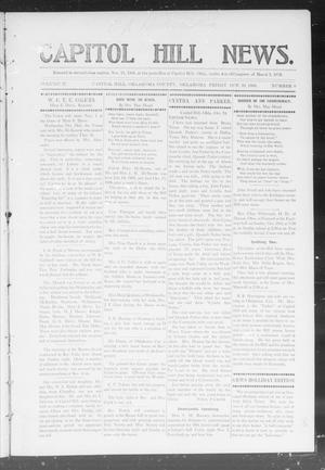 Primary view of object titled 'Capitol Hill News. (Capitol Hill, Okla.), Vol. 2, No. 8, Ed. 1 Friday, October 26, 1906'.