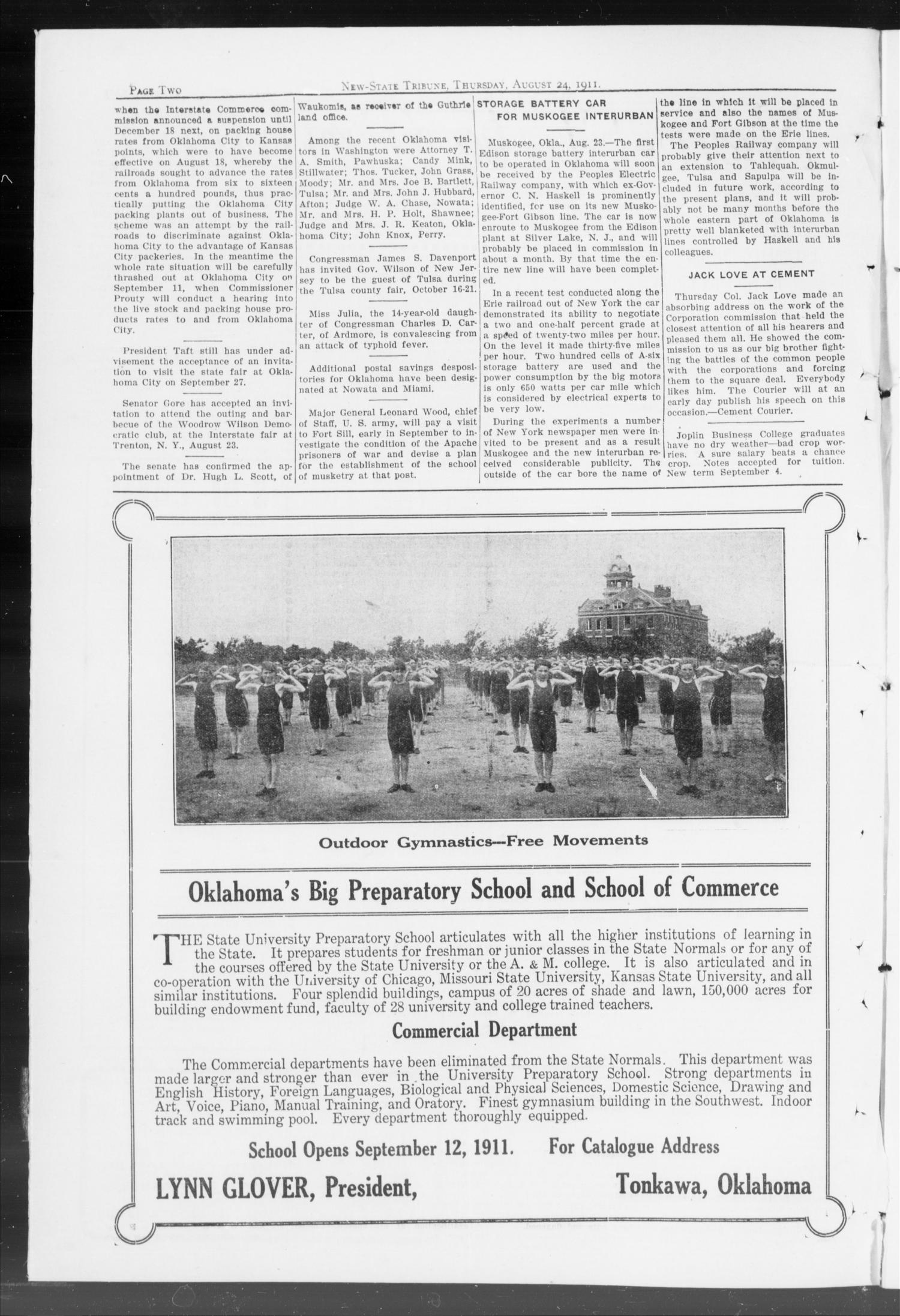 New-State Tribune. (Oklahoma City, Okla.), Vol. 17, No. 39, Ed. 1 Thursday, August 24, 1911                                                                                                      [Sequence #]: 2 of 16