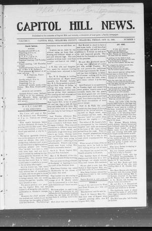 Primary view of object titled 'Capitol Hill News. (Capitol Hill, Okla.), Vol. 1, No. 5, Ed. 1 Friday, October 13, 1905'.