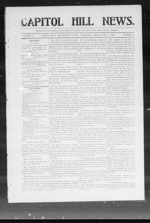 Primary view of object titled 'Capitol Hill News. (Capitol Hill, Okla.), Vol. 1, No. 12, Ed. 1 Friday, December 1, 1905'.