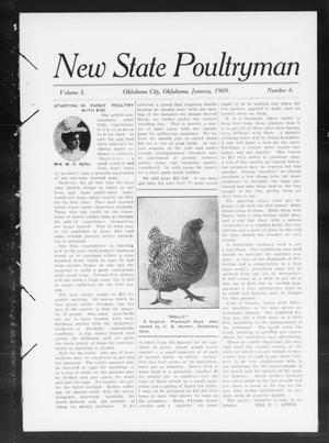 Primary view of object titled 'New State Poultryman (Oklahoma City, Okla.), Vol. 3, No. 6, Ed. 1 Friday, January 1, 1909'.