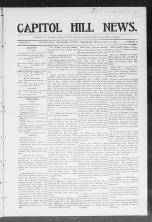 Primary view of object titled 'Capitol Hill News. (Capitol Hill, Okla.), Vol. 1, No. 10, Ed. 1 Friday, November 17, 1905'.