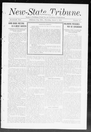 Primary view of object titled 'New-State Tribune. (Oklahoma City, Okla.), Vol. 17, No. 36, Ed. 1 Thursday, August 3, 1911'.