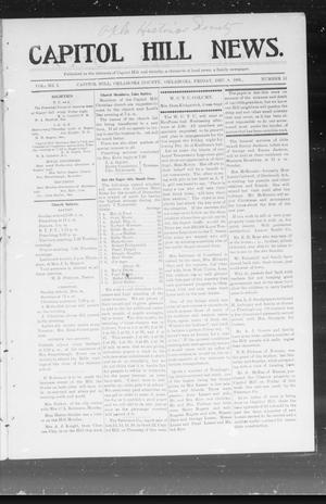 Primary view of object titled 'Capitol Hill News. (Capitol Hill, Okla.), Vol. 1, No. 13, Ed. 1 Friday, December 8, 1905'.