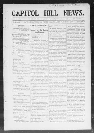 Primary view of object titled 'Capitol Hill News. (Capitol Hill, Okla.), Vol. 1, No. 25, Ed. 1 Friday, March 2, 1906'.
