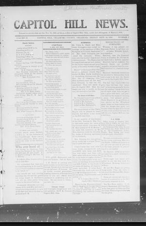 Primary view of object titled 'Capitol Hill News. (Capitol Hill, Okla.), Vol. 2, No. 2, Ed. 1 Friday, September 14, 1906'.
