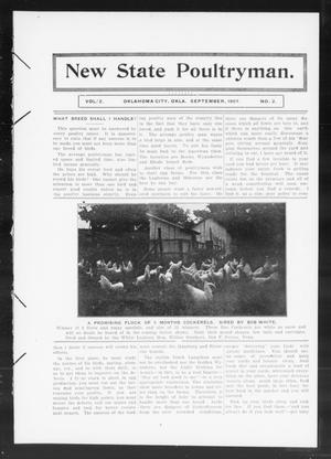Primary view of object titled 'New State Poultryman. (Oklahoma City, Okla.), Vol. 2, No. 2, Ed. 1 Sunday, September 1, 1907'.