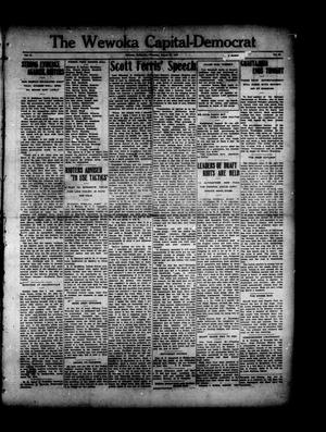 Primary view of object titled 'The Wewoka Capital-Democrat (Wewoka, Okla.), Vol. 17, No. 33, Ed. 1 Thursday, August 23, 1917'.