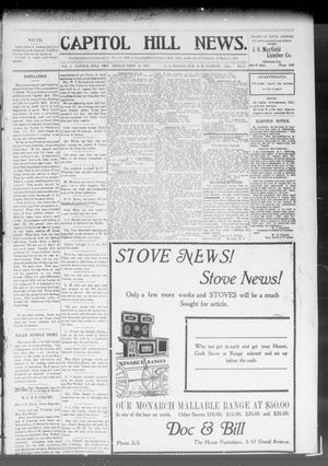 Primary view of object titled 'Capitol Hill News. (Capitol Hill, Okla.), Vol. 3, No. 2, Ed. 1 Friday, September 13, 1907'.