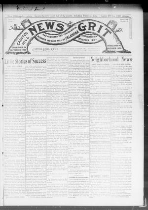 Primary view of object titled 'Capitol Hill News Grit (Capitol Hill, Okla.), Vol. 3, No. 23, Ed. 1 Saturday, February 15, 1908'.