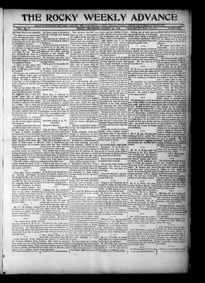 Primary view of object titled 'The Rocky Weekly Advance (Rocky, Okla.), Vol. 1, No. 19, Ed. 1 Thursday, August 30, 1906'.