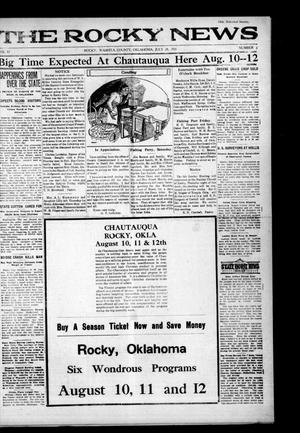 Primary view of object titled 'The Rocky News (Rocky, Okla.), Vol. 17, No. 3, Ed. 1 Thursday, July 28, 1921'.