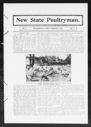 Primary view of object titled 'New State Poultryman. (Oklahoma City, Okla.), Vol. 2, No. 7, Ed. 1 Saturday, February 1, 1908'.