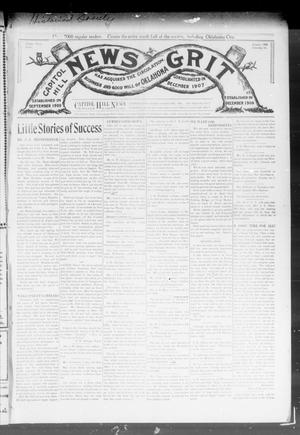 Primary view of object titled 'Capitol Hill News Grit (Capitol Hill, Okla.), Vol. 3, No. 19, Ed. 1 Saturday, January 18, 1908'.