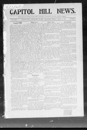 Primary view of object titled 'Capitol Hill News. (Capitol Hill, Okla.), Vol. 1, No. 1, Ed. 1 Friday, September 15, 1905'.
