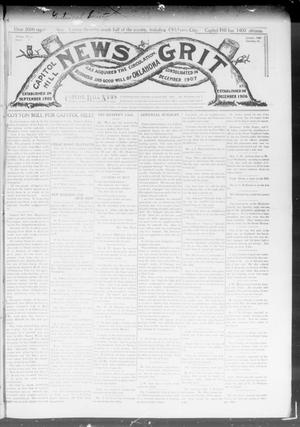 Primary view of object titled 'Capitol Hill News Grit (Capitol Hill, Okla.), Vol. 3, No. 20, Ed. 1 Saturday, January 25, 1908'.