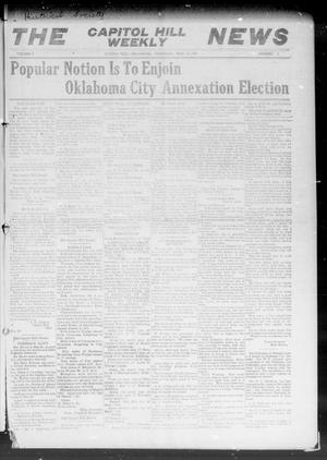 Primary view of object titled 'The Capitol Hill Weekly News (Capitol Hill, Okla.), Vol. 5, No. 8, Ed. 1 Thursday, November 11, 1909'.