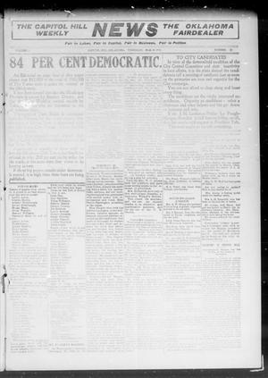 Primary view of object titled 'The Capitol Hill Weekly News The Oklahoma Fairdealer (Capitol Hill, Okla.), Vol. 5, No. 25, Ed. 1 Thursday, March 10, 1910'.