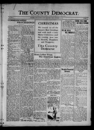 Primary view of object titled 'The County Democrat. (Tecumseh, Okla.), Vol. 28, No. 11, Ed. 1 Friday, December 23, 1921'.