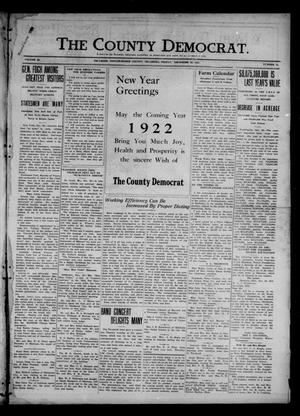 Primary view of object titled 'The County Democrat. (Tecumseh, Okla.), Vol. 28, No. 12, Ed. 1 Friday, December 30, 1921'.