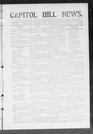 Primary view of object titled 'Capitol Hill News. (Capitol Hill, Okla.), Vol. 1, No. 51, Ed. 1 Friday, August 24, 1906'.
