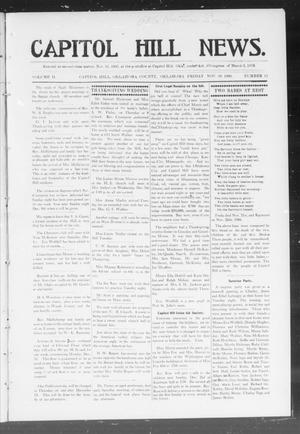 Primary view of object titled 'Capitol Hill News. (Capitol Hill, Okla.), Vol. 2, No. 13, Ed. 1 Friday, November 30, 1906'.