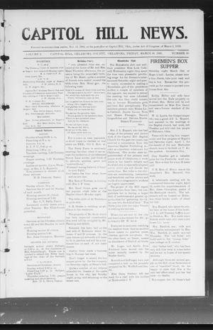 Primary view of object titled 'Capitol Hill News. (Capitol Hill, Okla.), Vol. 1, No. 30, Ed. 1 Friday, March 30, 1906'.