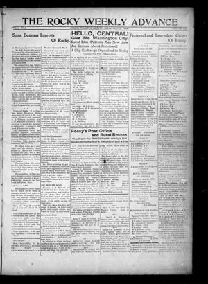 Primary view of object titled 'The Rocky Weekly Advance (Rocky, Okla.), Vol. 1, No. 2, Ed. 1 Thursday, May 3, 1906'.
