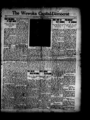 Primary view of object titled 'The Wewoka Capital-Democrat (Wewoka, Okla.), Vol. 17, No. 35, Ed. 1 Thursday, September 6, 1917'.