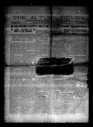 Primary view of object titled 'The Autumn Review. (Oklahoma City, Okla.), Vol. [1], No. [1], Ed. 1 Thursday, October 1, 1896'.