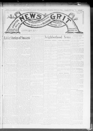 Primary view of object titled 'Capitol Hill News Grit (Capitol Hill, Okla.), Vol. 3, No. 22, Ed. 1 Saturday, February 8, 1908'.
