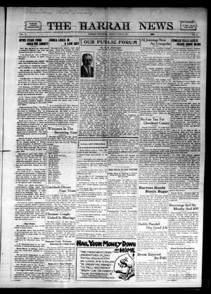 Primary view of object titled 'The Harrah News (Harrah, Okla.), Vol. 6, No. 21, Ed. 1 Friday, June 18, 1915'.