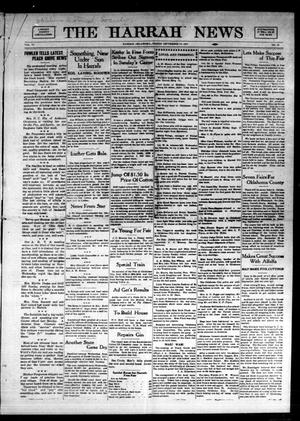 Primary view of object titled 'The Harrah News (Harrah, Okla.), Vol. 6, No. 32, Ed. 1 Friday, September 17, 1915'.