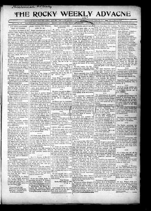 Primary view of object titled 'The Rocky Weekly Advance (Rocky, Okla.), Vol. 1, No. 45, Ed. 1 Thursday, February 28, 1907'.