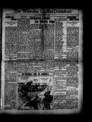 Primary view of object titled 'The Wewoka Capital-Democrat (Wewoka, Okla.), Vol. 17, No. 42, Ed. 1 Thursday, October 25, 1917'.