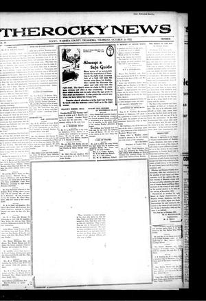 Primary view of object titled 'The Rocky News (Rocky, Okla.), Vol. 18, No. 17, Ed. 1 Thursday, October 26, 1922'.