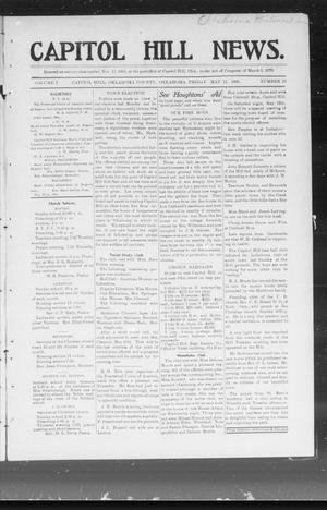 Primary view of object titled 'Capitol Hill News. (Capitol Hill, Okla.), Vol. 1, No. 36, Ed. 1 Friday, May 11, 1906'.