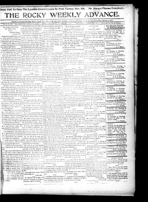 Primary view of object titled 'The Rocky Weekly Advance. (Rocky, Okla.), Vol. 2, No. 29, Ed. 1 Thursday, November 7, 1907'.