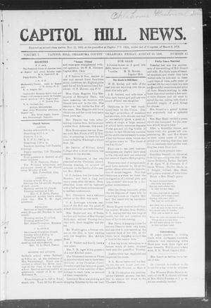 Primary view of object titled 'Capitol Hill News. (Capitol Hill, Okla.), Vol. 1, No. 49, Ed. 1 Friday, August 10, 1906'.
