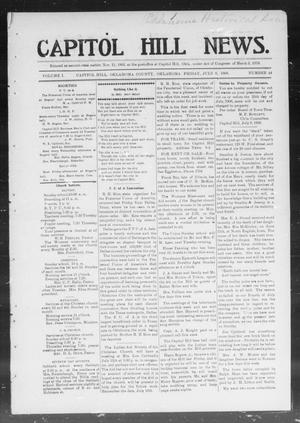 Primary view of object titled 'Capitol Hill News. (Capitol Hill, Okla.), Vol. 1, No. 44, Ed. 1 Friday, July 6, 1906'.