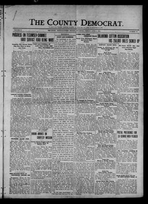 Primary view of object titled 'The County Democrat. (Tecumseh, Okla.), Vol. 27, No. 27, Ed. 1 Friday, April 1, 1921'.