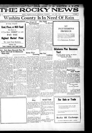 Primary view of The Rocky News (Rocky, Okla.), Vol. 19, No. 5, Ed. 1 Thursday, August 2, 1923
