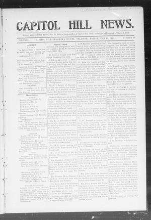 Primary view of object titled 'Capitol Hill News. (Capitol Hill, Okla.), Vol. 1, No. 46, Ed. 1 Friday, July 20, 1906'.