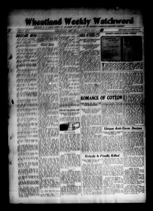 Primary view of object titled 'Wheatland Weekly Watchword (Wheatland, Okla.), Vol. 3, No. 7, Ed. 1 Saturday, July 2, 1910'.
