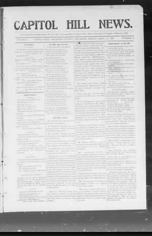 Primary view of object titled 'Capitol Hill News. (Capitol Hill, Okla.), Vol. 1, No. 34, Ed. 1 Friday, April 27, 1906'.