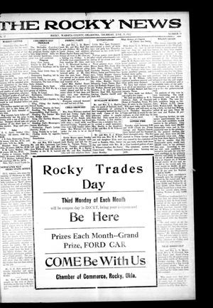 Primary view of object titled 'The Rocky News (Rocky, Okla.), Vol. 17, No. 51, Ed. 1 Thursday, June 29, 1922'.