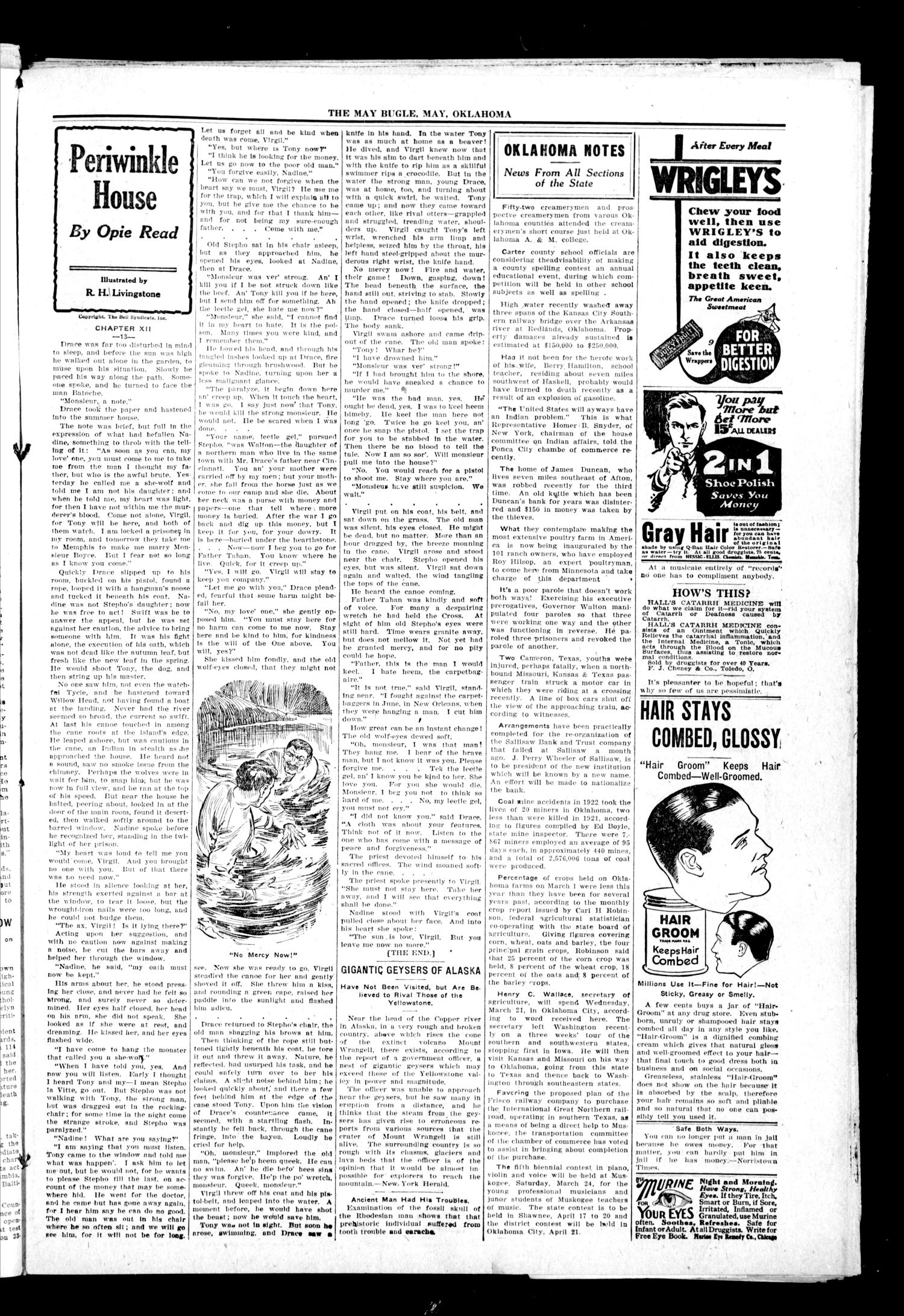 The May Bugle (May, Okla.), Vol. 19, No. 27, Ed. 1 Thursday, March 29, 1923                                                                                                      [Sequence #]: 3 of 8