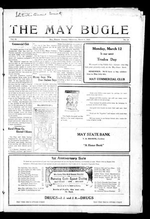 Primary view of object titled 'The May Bugle (May, Okla.), Vol. 19, No. 24, Ed. 1 Thursday, March 8, 1923'.