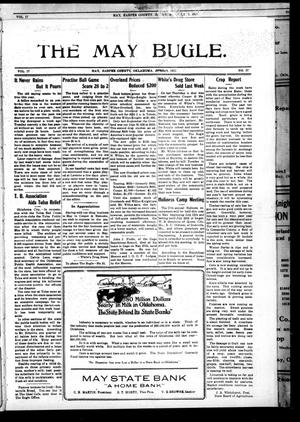 Primary view of The May Bugle. (May, Okla.), Vol. 17, No. 37, Ed. 1 Thursday, June 9, 1921